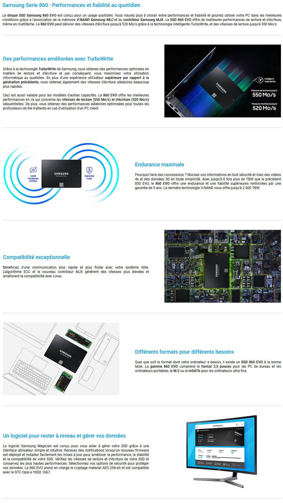Samsung ssd 860 EVO SATA III 2.5 2 TB
